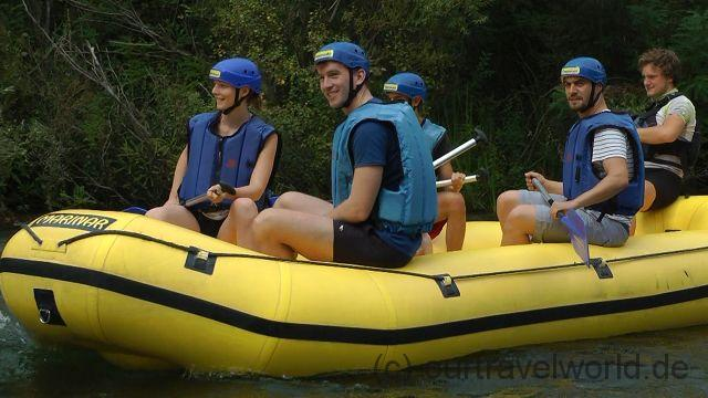 Rafting auf der Cetina