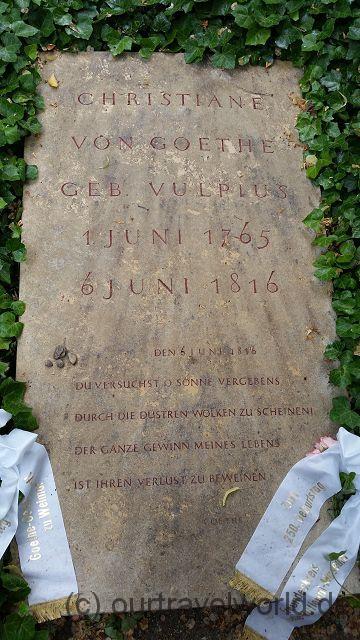 Grab von Goethes Frau