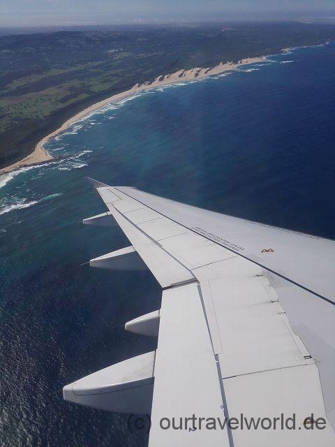 Anflug auf Port Elizabeth